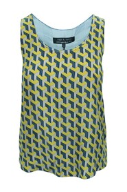Print Silk Top -Pre Owned Condition Very Good