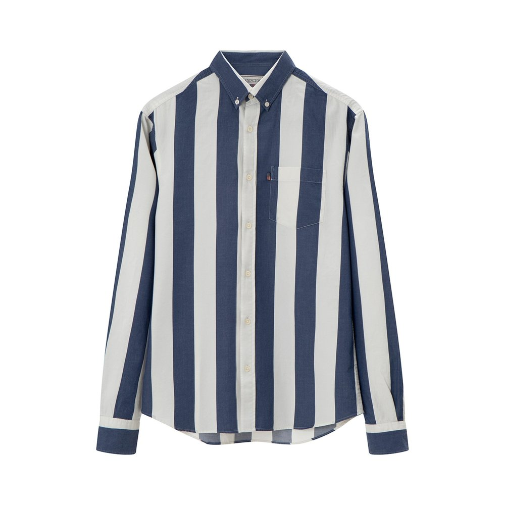Lexington Clive Twill Shirt, Blue/White Stripe
