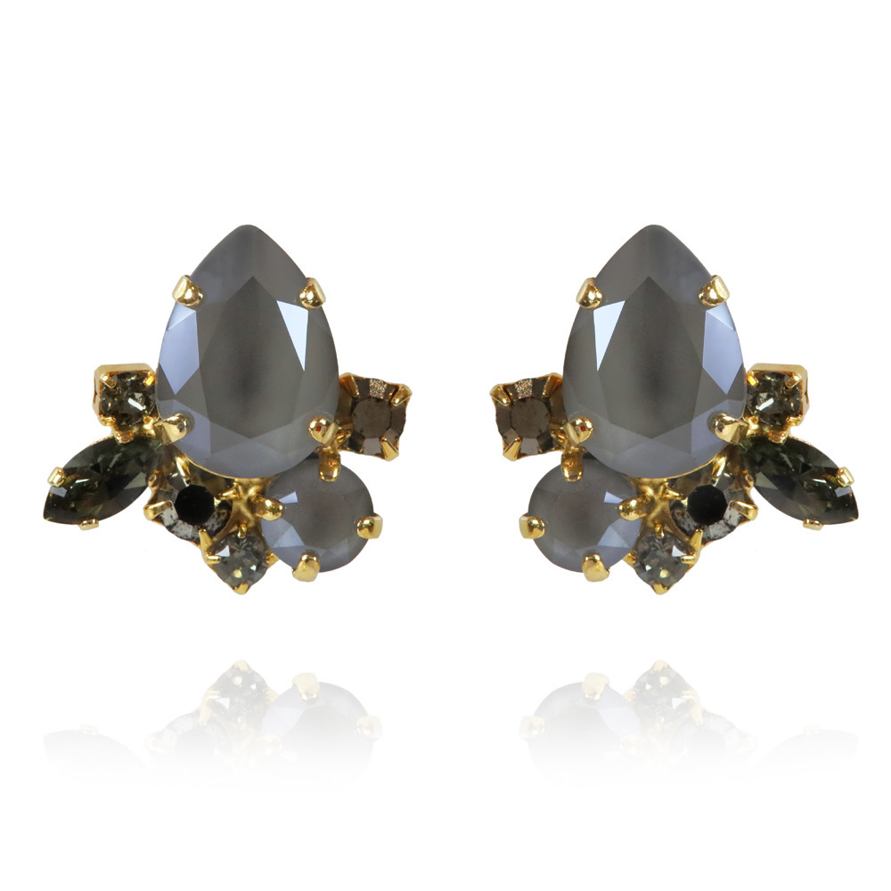 Nami earrings dark grey gold - Caroline Svedbom
