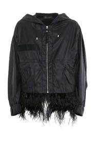JACKET WITH FEATHERS
