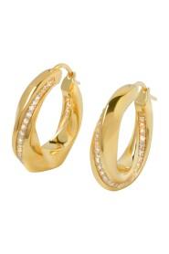 infinity Hoops Rock Earrings