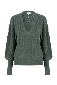 Dante6 - Sylas Cable Sweater - 657 Matcha Green