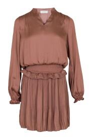 LULELA SOLID SATEEN DRESS