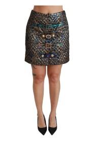 Jacquard Crystal Mini Skirt