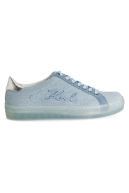 Lysblå Karl Lagerfeld Signia Denim Lace Sneakers, BN 460