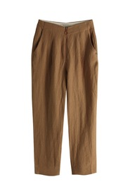 Maison Scotch Linen Trousers Toffee Melange