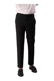 TROUSERS WITH BELT AND ELASTIC WAIST