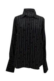 Skjorte i silke Catene -trykk