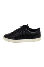 Suede And Leather Low Top Sneakers