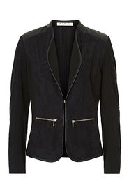 Betty Barclay - zwarte blazer leder-alcantara - 50369621
