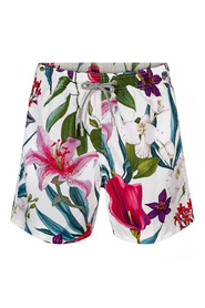 Hvit Saint Barth Tropical Vibes 1356 Badeshorts