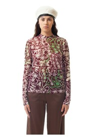 PSYCHEDELIC PALM BLOUSE