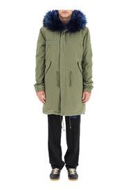 army long parka with coyote fur and murmasky