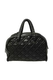 Pre-owned Quilted Soft Leather Hidden Chain Bowler Bag