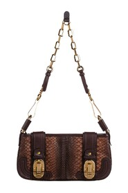 Python Leather Baguette