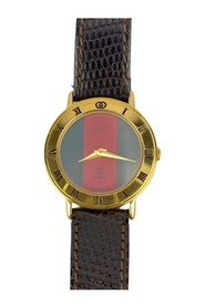 Gold Tone Stainless Steel 3001 L Watch Leather Strap