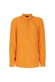 Orange Soft Rebels Stilks bluse