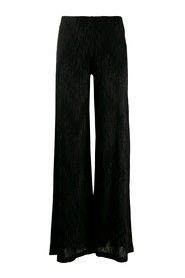 metallic effect wide-leg trousers