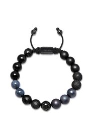 Beaded Bracelet with Onyx, Lava Stone and Agate