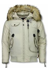 Herre Winterjacket Short - Art Collar - Pilot Jack Gobi Eco