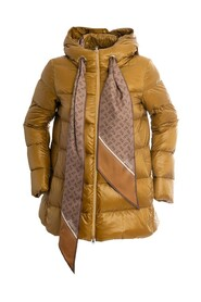 Down Jacket With Scarf
