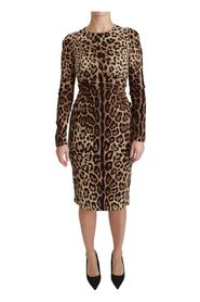 Leopard Bodycon Silk Dress