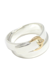 18K Double Buckle Ring Metal