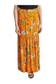 Judicieuse long skirt with floral print