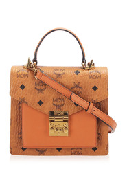 Pre-owned Visetos Satchel Leather Calf