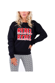 Zwart Colourful Rebel Rebel Rebel Loosefit Sweater