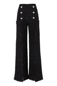 Tweed trousers with buttons