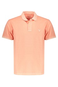 Polo korte mouw washed oranje 2052028-820