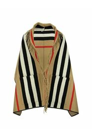 jacquard cape with iconic striped pattern