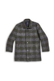 Inverno Sjekket Wool Kåpe