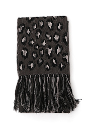 leopard intarsia scarf