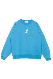 Lightweight Crewneck Sweatshirt Printed Interlock Roundnecked