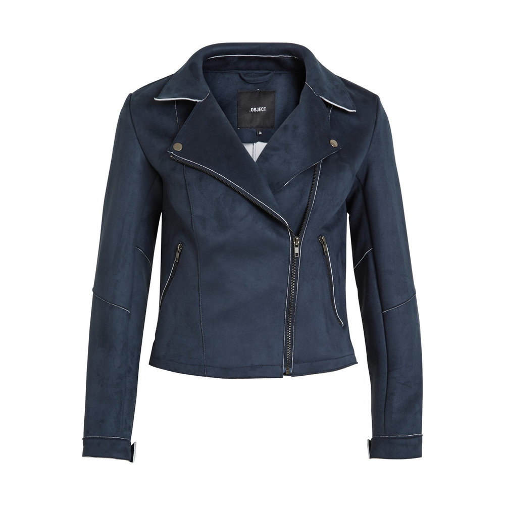 Faux Leather Jacket Suede-