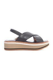 LOW SANDALS WITH HIGH SOLE AND TWO STRAP