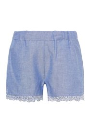 Shorts broderie anglaise trim