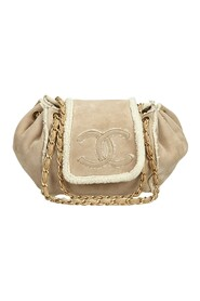 Suede Chain Shoulder Bag