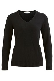Vila VIRIL L/S V-NECK KNIT TOP-NOOS svart
