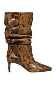 SLOUCHY PYTHONED BOOTS