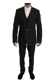 Striped Wool Stretch Slim Fit Suit