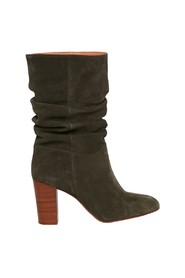 Blandine mid-high suede leather boots