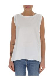 embroidered-logo sleeveless top