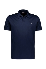 Cop1013 polo shirt in organic cotton pique with shark badge