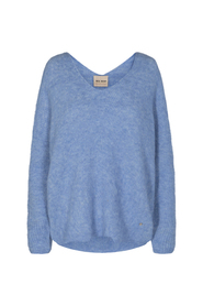 Thora V-neck knit, bel air - Size XS