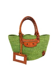 Raffia Panier Shoulder Bag