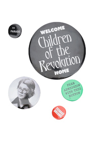 set of 5 pins with slogans