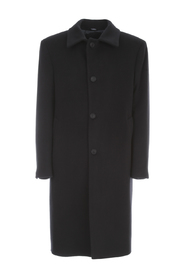 WOOL CASHMERE SINGLE BREASTED COAT W/SHIRT NECK